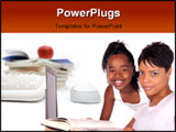 PowerPoint Template - adolescent helps mom with her homework