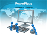 PowerPoint Template - computer generated image - computer guys .