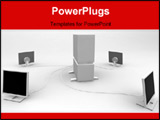PowerPoint Template - 3d render mental ray