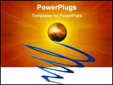 PowerPoint Template - The concept of the winner - an important point of any business.