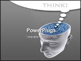 PowerPoint Template - he labyrinth inside the head. Concept of problem fear lost solution idea etc. Your text on the whit