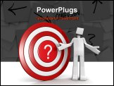 PowerPoint Template - Depression man with a question mark target dartboard 3d illustration