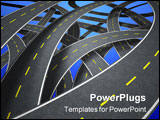 PowerPoint Template - Many roads in confusion way.