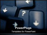 PowerPoint Template - this image is made from moving around the buttons on my laptop to form words.