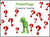 PowerPoint Template - Upset 3d puppet keeping for a head