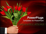 PowerPoint Template - hand holding flowers