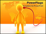 PowerPoint Template - Character has a cable connected to his head. Concept of networking connecting internet...