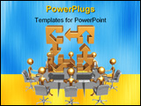 PowerPoint Template - a concept and presentation figure in 3d