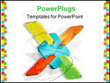 PowerPoint Template - abstract connected colored schemes for various concepts