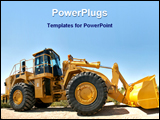 PowerPoint Template - New earth mover or bulldozer on display