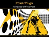 PowerPoint Template - Under construction for internet web page The builder