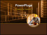 PowerPoint Template - A man working building a home and measuring some wood