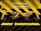 PowerPoint Template - 3D models showing construction work