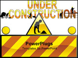 PowerPoint Template - Vector illustration Under construction .