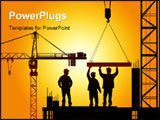PowerPoint Template - construction industry concept