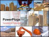 PowerPoint Template - Photo collage of construction related images around working man