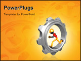 PowerPoint Template - A Gear Concept And Presentation Figure In 3D