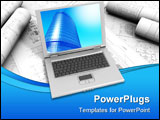 PowerPoint Template - Modern Laptop isolated on a white background
