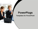 PowerPoint Template - Businessman and woman working