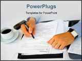 PowerPoint Template - this is a session within the business concept. the concept is signing contracts.