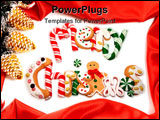 PowerPoint Template - Yummy decorated christmas cookies spell out merry christmas.