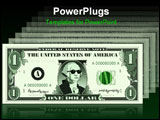 PowerPoint Template - raster graphic depicting a dollar bill parody