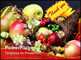 PowerPoint Template - Autumn cornucopia - symbol of food and abundance