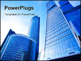 PowerPoint Template - New skyscrapers business center in moscow Russia