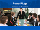 PowerPoint Template - Business woman in meeting