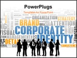 PowerPoint Template - Corporate Identity in the Marketing World Art