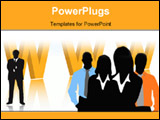 PowerPoint Template - Illustration of business people... world biz illustration
