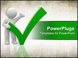 PowerPoint Template - 3d human with a big positive symbol