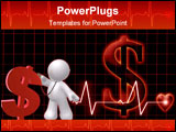 PowerPoint Template - The cost of public healthcare on a dark background