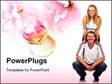 PowerPoint Template - Happy young loving couple. love and romance series.
