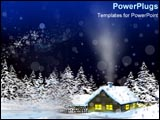 PowerPoint Template - Cozy home in wintry land.