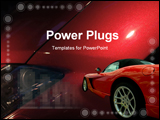 PowerPoint Template - luxury car in a red background