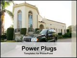 PowerPoint Template - car in front of a house