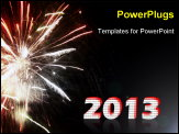 PowerPoint Template - new year fireworks display