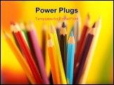 PowerPoint Template - series of colorful pencils shot on colorful background