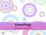 PowerPoint Template - Background image composed of pastel circles of various sizes