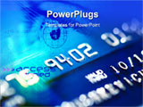PowerPoint Template - Dark blue bank credit card close up ** Note: Shallow depth of field