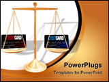 PowerPoint Template - Weighing the differences between a credit and debit card
