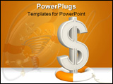 PowerPoint Template - 3d symbol of dollar and lifebuoy ring