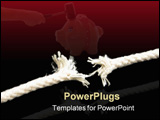 PowerPoint Template - close up pictures of a hanging thread