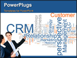PowerPoint Template - Word cloud concept illustration of CRM Customer Relationship Management