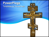 PowerPoint Template - antique cross isolated on white clipping path included