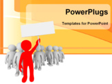 PowerPoint Template - 3d crowd of the small persona