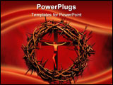 PowerPoint Template - Crown of thorns against red background - symbolic of the day He worn our crown