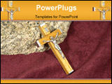 PowerPoint Template - Photo of a Wooden Crucifix Necklace - Religion Related