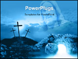 PowerPoint Template - rucifixion and resurrection 2d coloured digital illustration stylised in photoshop of the crucifixi
